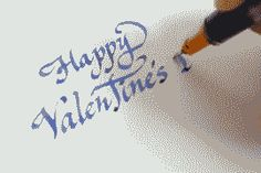 Calligraphy gif : Happy Valentine's Day. #calligraphy #lettering #typography #gif