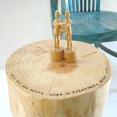 Roots in Hearts Imprinted Stump by realwoodworks1 on Etsy, $218.00