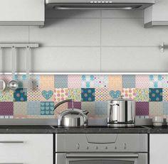 Adesivos de parede para cozinha delicado de azulejo