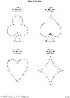 template to make over-sized playing cards