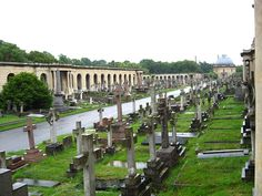 Brompton Cemetery is one of several serene and atmospheric cemeteries dotted around London