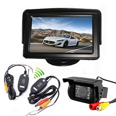 "5/"" LCD Monitor Car Rearview Kit For Bus Truck 18 IR Reversing Backup Camera"