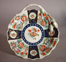 A Worcester Porcelain Rich Queen's Pattern Blind Earl Sweetmeat Dish, Circa 1770.