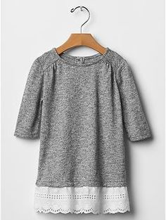 Flower girl - not quite summer appropriate,  but ohmygoodness the lace trim is so perfect. Marled eyelet dress | Gap