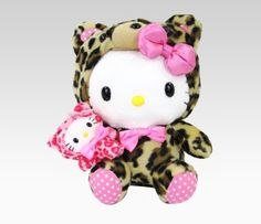 "Hello Kitty 8"" Plush With Puppet: Leopard  Item #29889  NEW  $28.00"