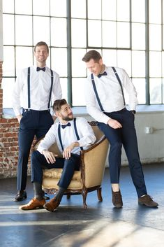 This classic navy bow tie and suspenders are a hit for both casual and formal events. More colors available in our store. Navy Blue Suspenders, Suspenders Outfit, Navy Bow Tie, Navy Suits, Groomsmen Attire Navy, Groomsmen Suspenders, Groom And Groomsmen, Groom Suits, Estilo Hipster