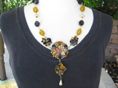 Statement Necklace Reclaimed Vintage by JenniferJonesJewelry, $89.00