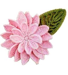 Beautiful pink flower with many petals. ﻬஐCQஐﻬ crochet spring crochetflowers flowers
