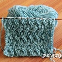 Latest,Simple,And Beautiful Knitting Pat - Diy Crafts - Qoster Knitting Stiches, Cable Knitting, Easy Knitting Patterns, Knitting Designs, Crochet Stitches, Stitch Patterns, Crochet Patterns, Diy Crafts Knitting, Knitting Projects