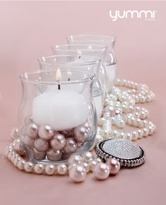 BACK By Popular Demand! 30 Mini Hurricane Holders and 60 Micro Floating Candles for $30! Shop Now at www.YummiCandles.com