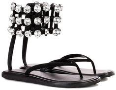 /o/o/Alexander Wang Aubrey embellished flip flops. #Shoes #Flipflops\o\o\
