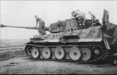 Tiger 1 Ausf H №132 showing some wear and tear from heavy use.