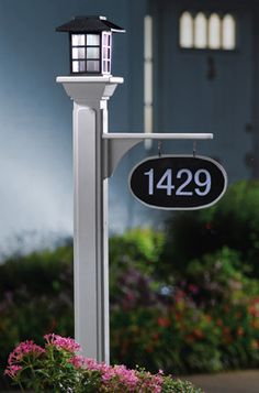 Mailbox post for address marker
