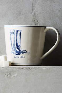 Cute wellies mug