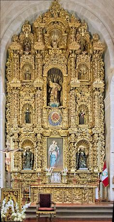 Altar, Jesuit Church. Arequipa, 17th century, Peru