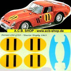 "1:18 DECAL - FERRARI 250 GTO ""Tourist Trophy 1963"" #11 |"