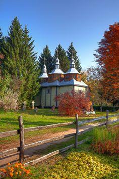 Three Spires  Wooden Church from 1775, seen in Pereyaslav-Khmelnitsky, Ukraine.  ISO 400 - 20mm - f/13 - 1/160  Photomatix, Photoshop, onOne Perfect Effects  www.mattcreate.com