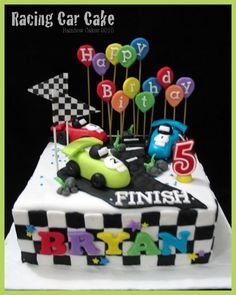 Race Car Birthday Cake Http//wwwmy Rainbowcakescom/2010/10/racing  cakepins.com