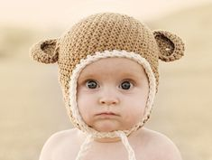 Crochet+Baby+Hats+with+Ear+Flaps
