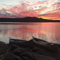 #Swedish #sunset #bushcraft #camping #canoeing