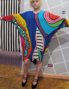 80s Yolanda Lorente Hand Painted Silk Abstract by kokorokoko, $86.00
