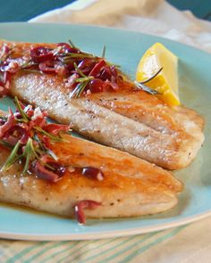 """Any firm-fleshed white fish is the perfect vehicle for this deep-flavored, earthy sauce; you can also try it with fresh sea scallops. If you don't want to flour the fish, place all the ingredients in a parchment paper or foil pouch and bake in the oven instead. From the book """"Lucinda's Rustic Italian Kitchen,"""" by Lucinda Scala Quinn (Wiley)."""