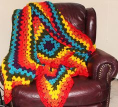 Gay Pride LGBT Rainbow Crochet Blanket Lesbian Wedding Gift Gay Christmas by NewPrideDesigns on Etsy
