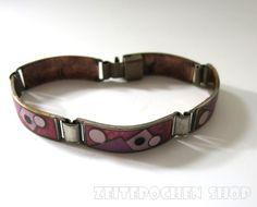 Email Armband | Enamel Bracelet Vintage | Mid Century - 50s/60s