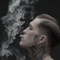 The man | Jimmy Quaintance | Tattoo & Piercings | Smoking | Model