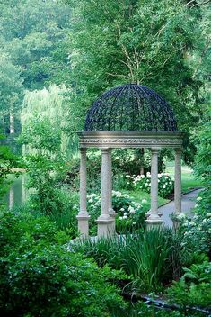 The Gazebo at Longwood Gardens (can I put this in my backyard? Beautiful Architecture, Beautiful Landscapes, Beautiful Gardens, Garden Gazebo, Garden Art, Backyard Gazebo, Garden Paths, Gazebos, Longwood Gardens