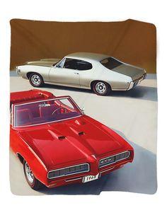 "1968 Pontiac GTO & LeMans Photo Blanket / Wall Banner 50 x 60"" or 60 x 80"""