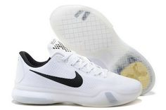 938baf95988 The cheap Authentic Nike Zoom Kobe 10  Fundamentals  White Wolf Grey-Black  Shoes factory store are awesome pair of shoes but it seems the super high  top ...
