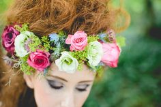Flower Crown Headdress Halo Garland Bride http://www.kanashay.com/