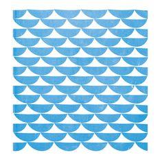 Blue scallop print pattern