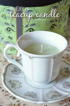 Make these DIY Teacup Candles with just a few supplies! Would make great home decor or a thoughtful gift! Make these sweet DIY Teacup Candles with drinkware from Cost Plus World Market and a few candle making supplies! Teacup Candles, Diy Candles, Ideas Candles, Crafts To Do, Home Crafts, Kids Crafts, Craft Gifts, Diy Gifts, Bougie Candle