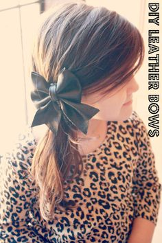 AmandaRose: Leather Bow: tutorial with free pattern
