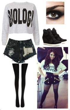 Jesy Nelson Style ... is it bad that I just want this outfit for the biology shirt