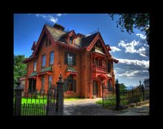 The beautiful W. E. Warren House was designed by Calvert Vaux in the 1860's following Alexander Jackson Downing's influence of the urban 'villa'... this great house is located in the progressive neighborhood on Montgomery Street in Newburgh NY. Taken by emowolf87 at deviantart