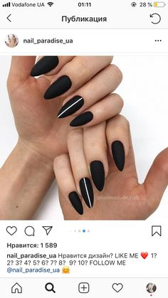 Make an original manicure for Valentine's Day - My Nails Love Nails, How To Do Nails, My Nails, Black Nail Designs, Nail Art Designs, Cute Acrylic Nails, Prom Nails, Nagel Gel, Perfect Nails