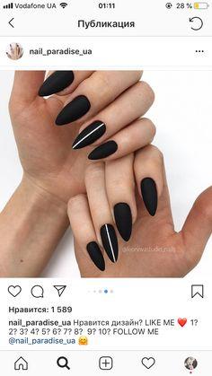 Make an original manicure for Valentine's Day - My Nails Love Nails, How To Do Nails, Fun Nails, Cute Acrylic Nails, Matte Nails, Black Nail Designs, Nail Art Designs, Nagel Gel, Perfect Nails