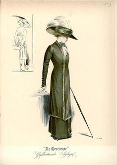 De Gracieuse May 1909, Edwardian Fashion Plate