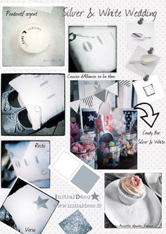 Silver & white wedding by Initial Déco
