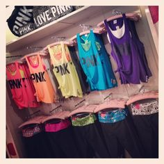 We love these neon tanks from the Victoria's Secret PINK Collection. Perfect to pair with yoga pants or shorts.