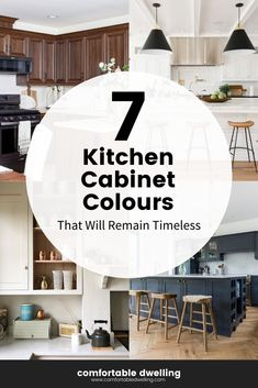 With all of the choices in cabinetry colours, it's easy to feel overwhelmed with all the choice, so in this blog post, I'm breaking down the 7 best cabinetry paint colors I turn to most to help you narrow in on one of the most important and impactful decorating decisions in your home. | best paint colors for your kitchen cabinets | classic cabinet paint colors | paint color choices for your kitchen | paint color kitchen trends | paint color inspiration | color trends | cabinet paint Teal Living Rooms, Desk In Living Room, Colourful Living Room, Accent Chairs For Living Room, Cabinet Paint Colors, Kitchen Paint Colors, Home Styles Exterior, Kitchen Trends, Kitchen Ideas