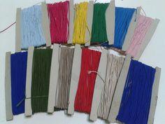 Elástico de rolinho  várias cores - 0.20€ metro Enviamos pelo correio, mais INFO, lisamodeloja@hotmail.com
