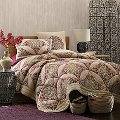 Bazaar Quilt and Sham. want this so bad!! would look perfect with burgundy walls or khaki!!