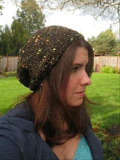 Chocolate Party Slouchy Beanie by OakStreetKnits on Etsy, $30.00