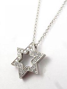 Star of david pendant stuller i need it pinterest superb tiffany platinum diamond star of david pendant necklace w pouch box ebay aloadofball Choice Image