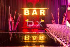 BAR Letters Sign & Other Back Bar Accessories by DX Design