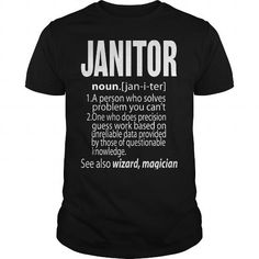 Cool Janitor definition T shirts